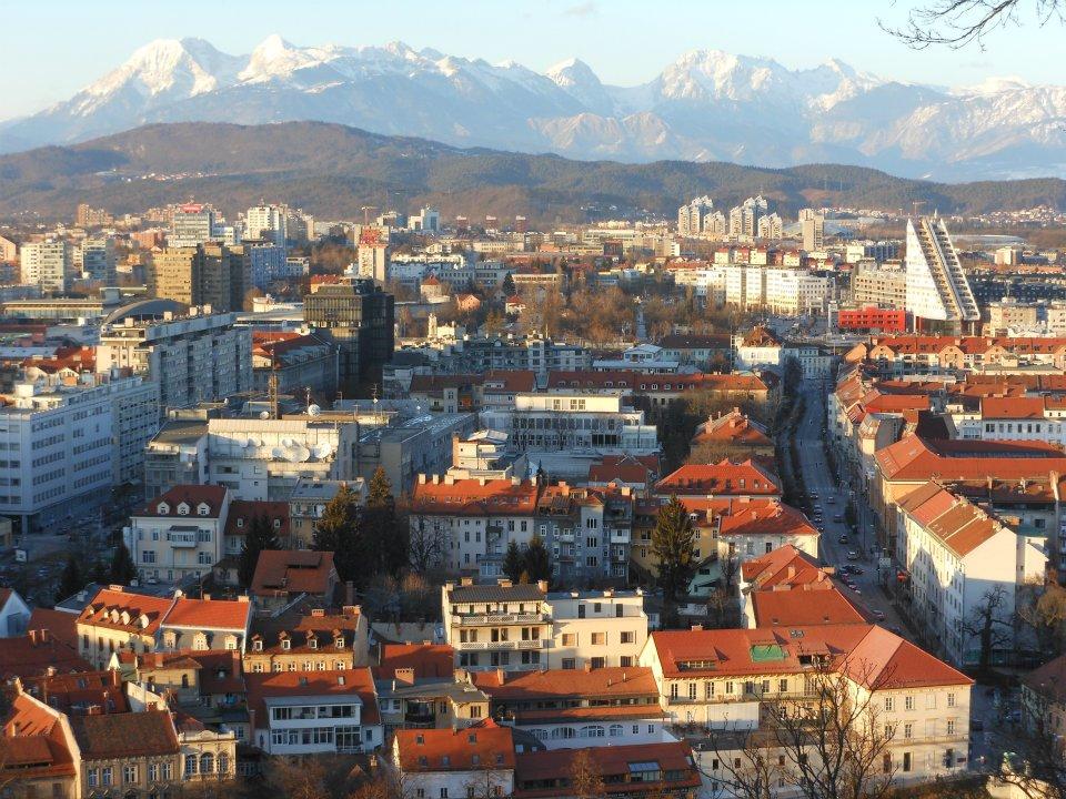 スロベニアの首都リュブリャナ