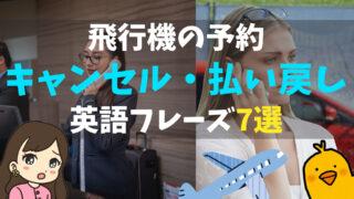 【電話で飛行機の予約をキャンセル・払い戻し】シーン別、使える英語フレーズ7選