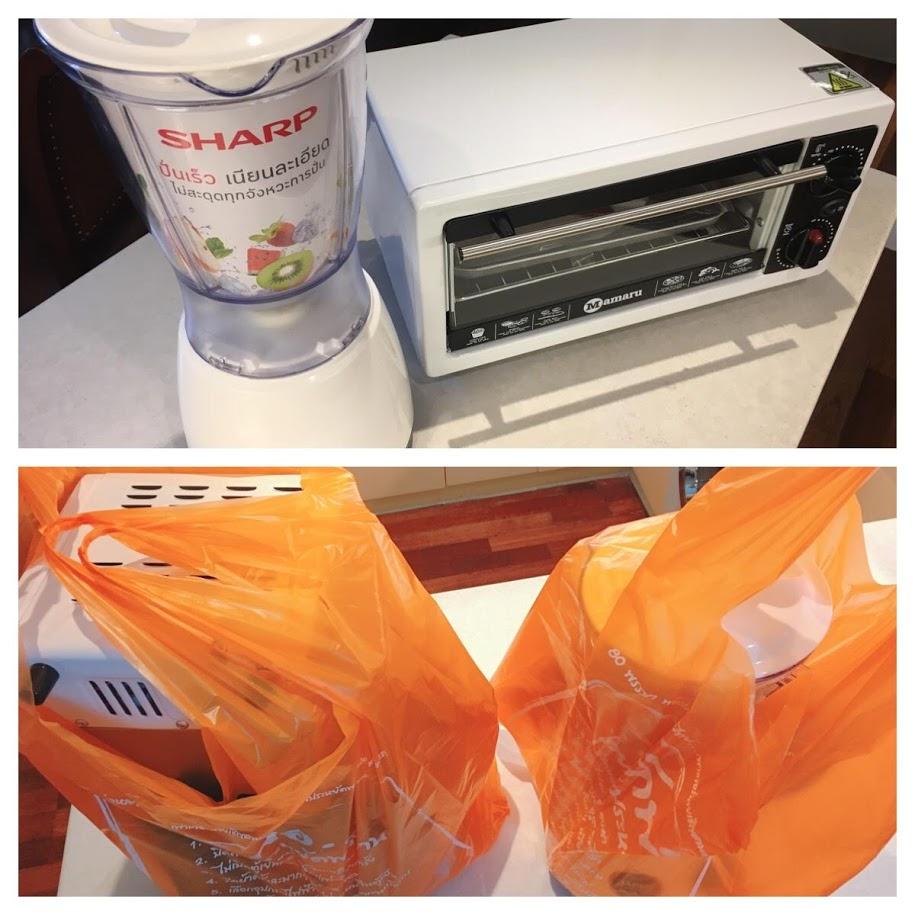 バンコクで買ったトースターとミキサー