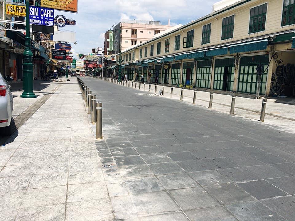 カオサンロードの大規模改修工事の写真