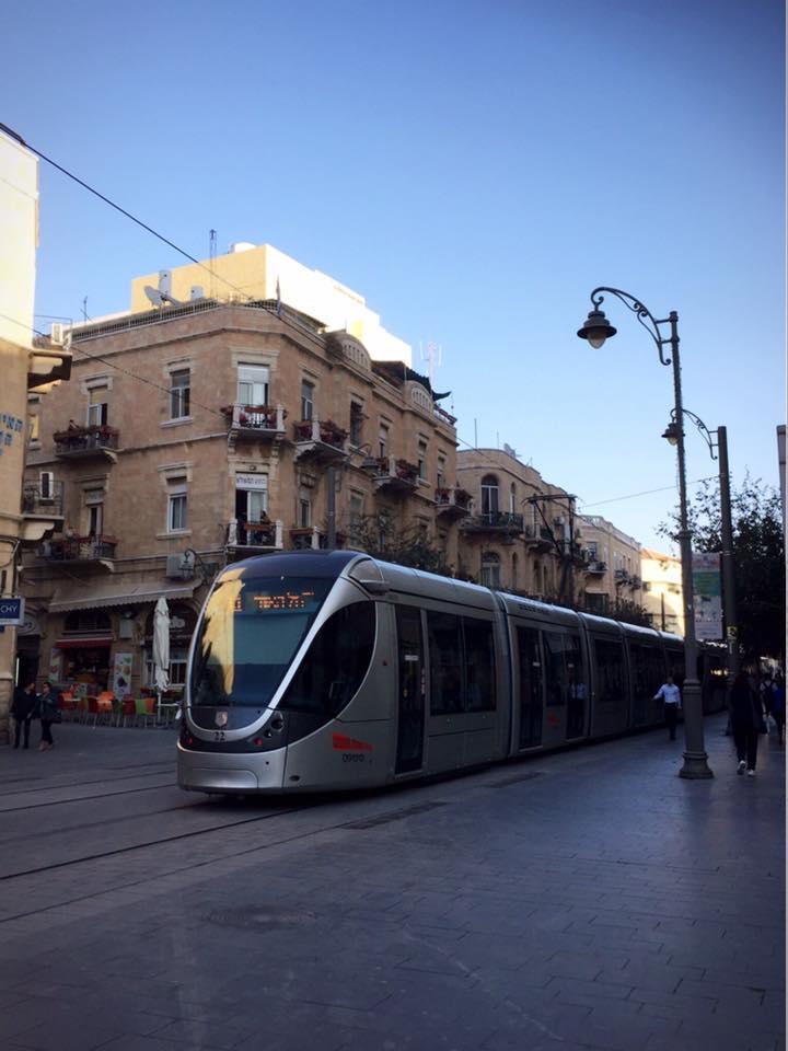 エルサレム新市街のトラム