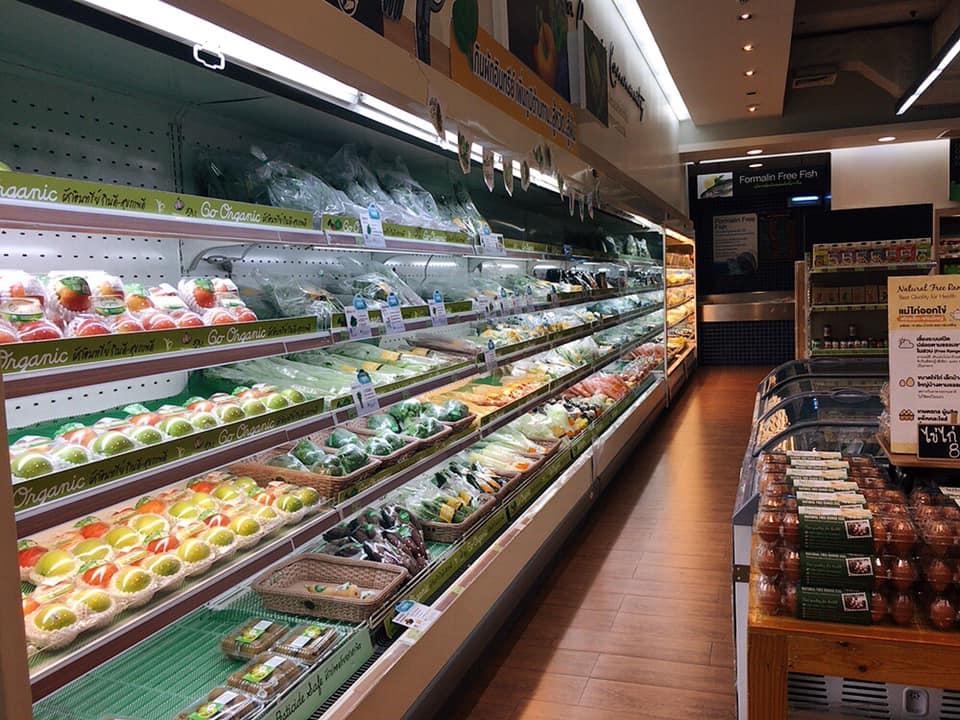 タイのオーガニック食品スーパー『Lemon Farm(レモンファーム)』チットロム店 生鮮食品