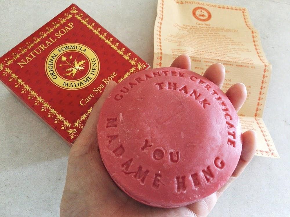 【タイ土産に最適】マダムヘン・ハーブ配合のオーガニック石鹸 ローズ