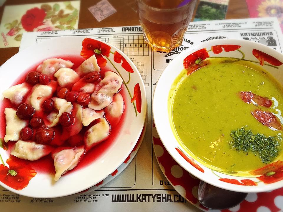 東欧ウクライナの料理 ヴァレニキ