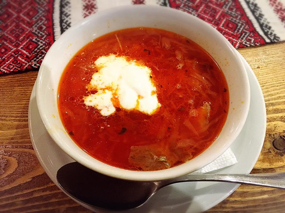 東欧ウクライナの料理 ボルシチ