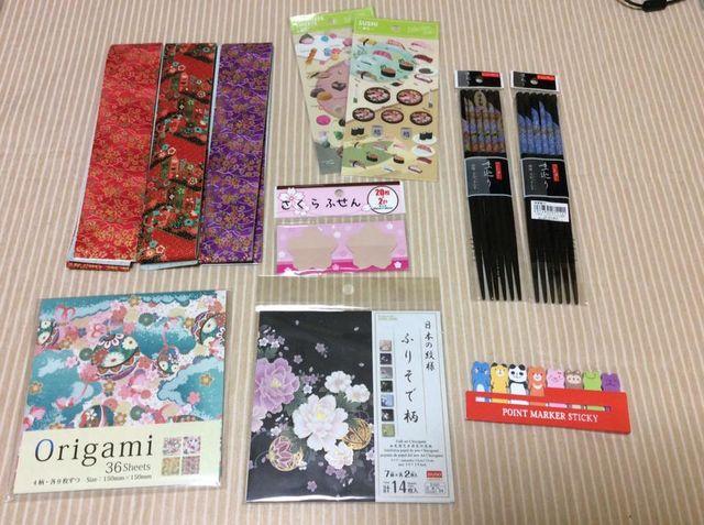 世界一周 お土産 折り紙 箸